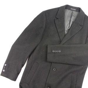 Men's 40L Long Wool Overcoat {Calvin Klein}